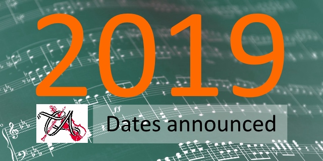 Dates for 2019 announced