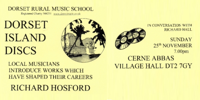 Richard Hosford in 'Dorset Island Discs'