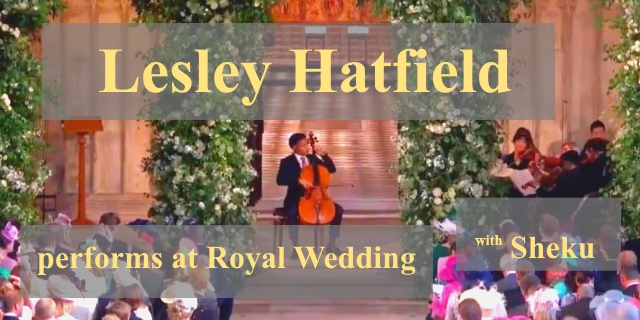 Lesley Hatfield plays at Royal Wedding