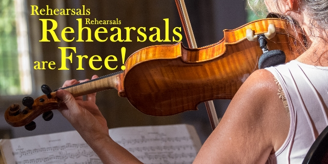 Rehearsals are Free!