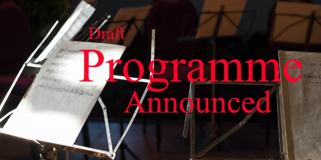 Draft Programme announced